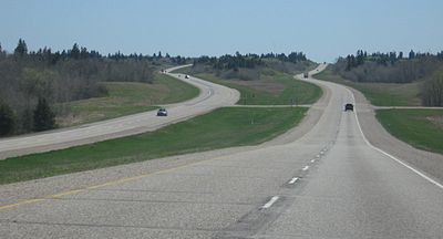 TransCanada Highway - Manitoba  Image credit: JPark99 via Wikipedia Commons