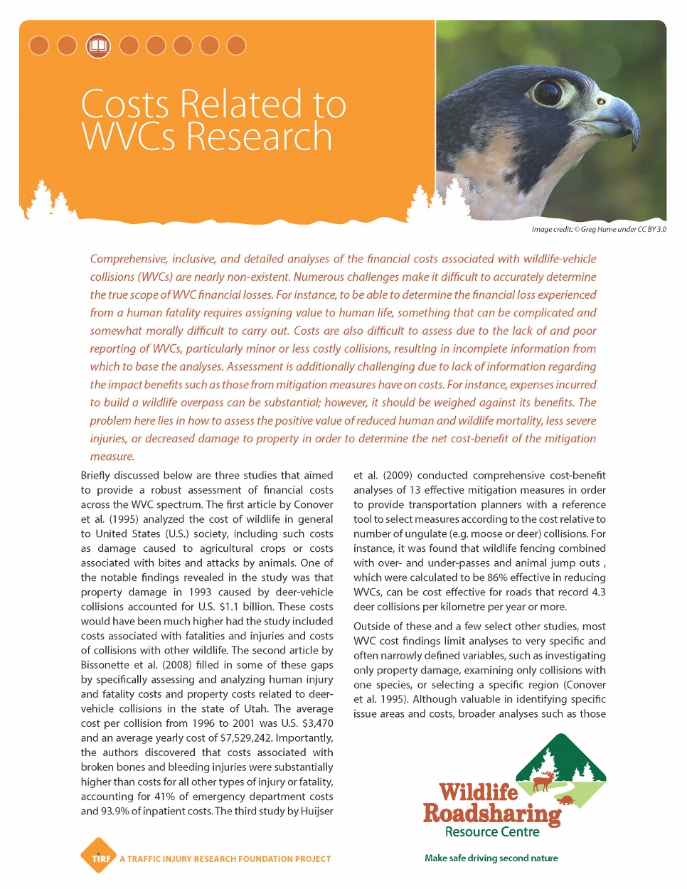 Costs Related to WVCs Research Handout