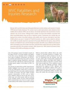 WVC Fatalities and Injuries Research Handout