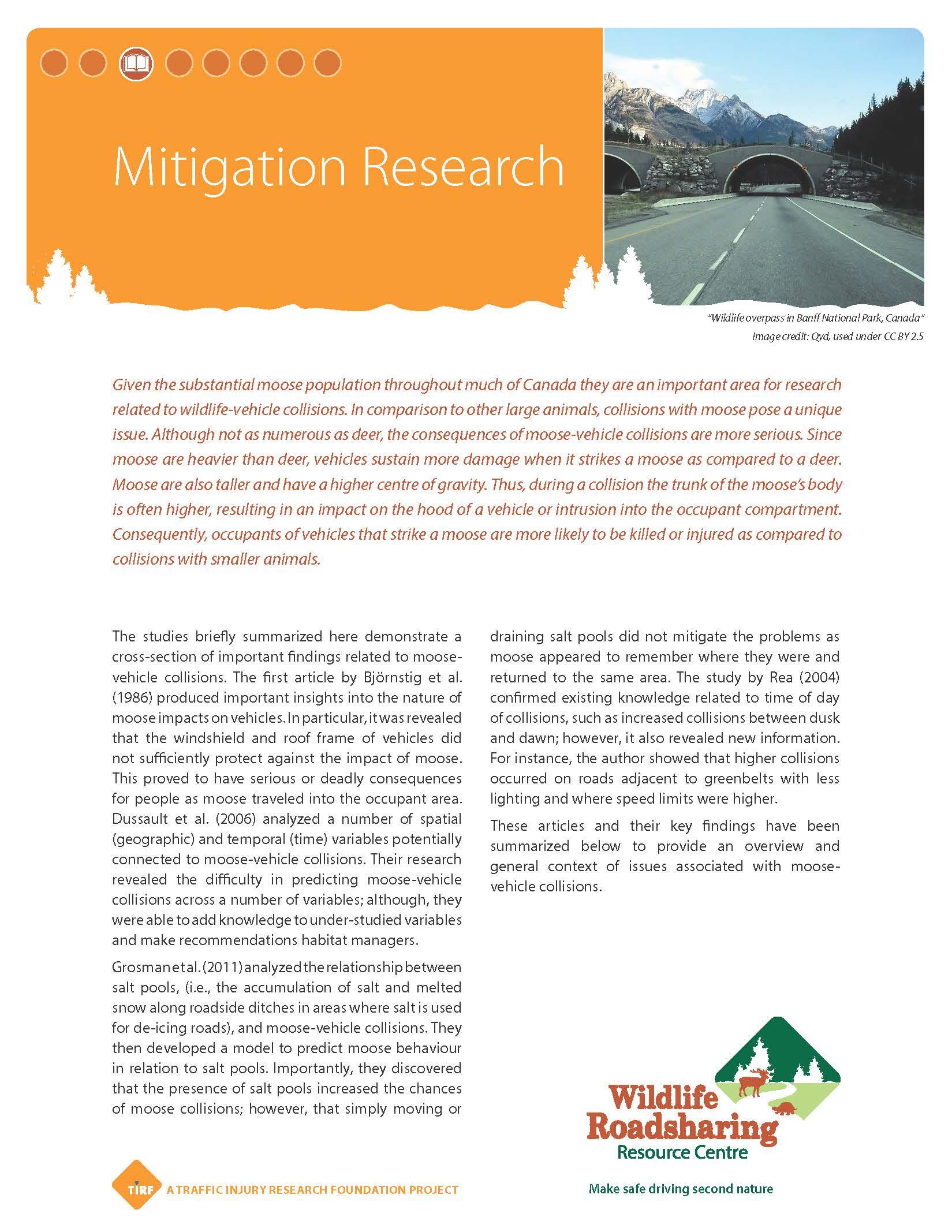 Mitigation Research Handout